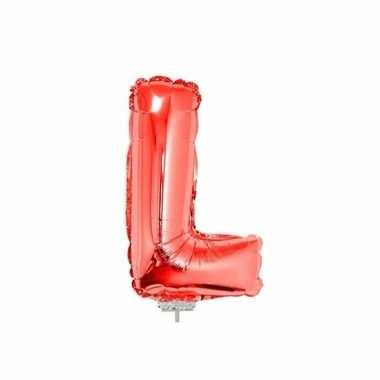 Opblaasbare letter l rood 41 cm