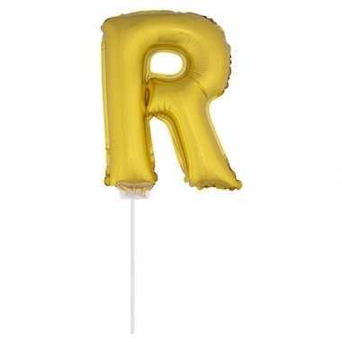 Opblaasbare letter r goud