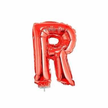 Opblaasbare letter r rood 41 cm