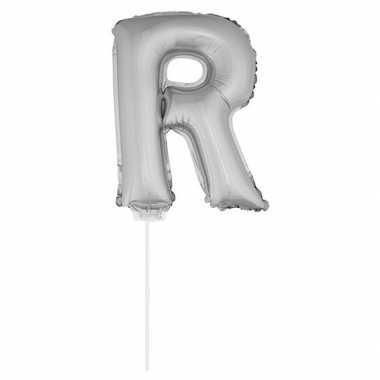 Opblaasbare letter r zilver