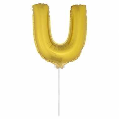 Opblaasbare letter u goud