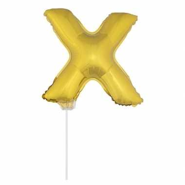 Opblaasbare letter x goud