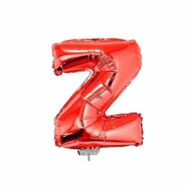Opblaasbare letter z rood 41 cm