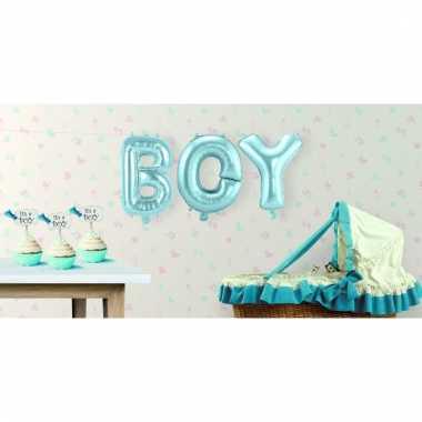 Opblaasbare letters boy its a boy versiering