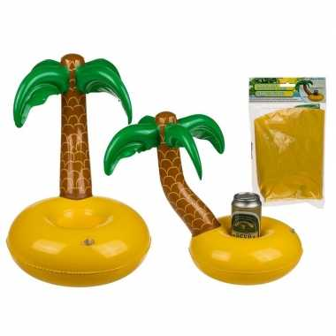 Opblaasbare palmboom bier houder 35 cm