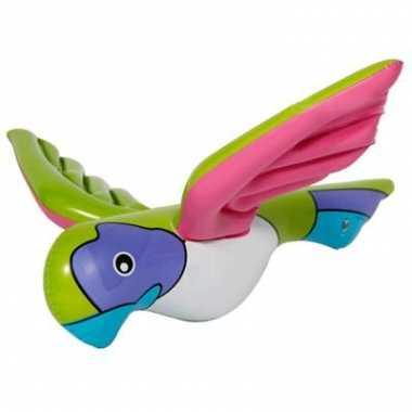 Opblaasbare papegaai versiering 23 cm