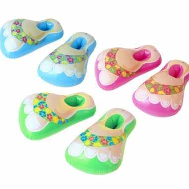 Opblaasbare slippers tropische print