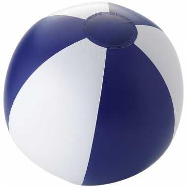 Opblaasbare strandballen wit/ blauw