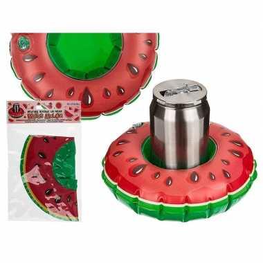 Opblaasbare watermeloen bier houder 18 cm