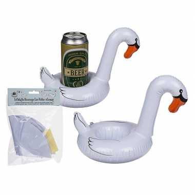 Opblaasbare zwaan bier houder