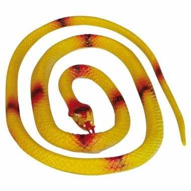 Opgerolde slang geel 140 cm
