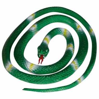 Opgerolde slang groen 140 cm