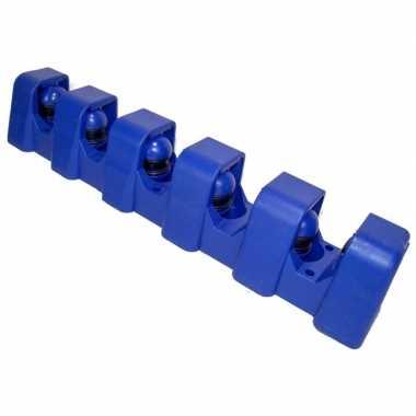 Ophangsysteem voor 5 stelen / tuingereedschap blauw