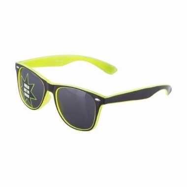 Oplichtende gele zonnebril