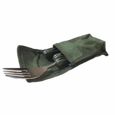 Opvouwbaar bestek 3 delig vork mes lepel