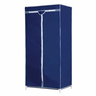 Opvouwbare campingkast met blauwe hoes 160 cm