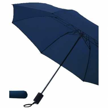 Opvouwbare paraplu navy blauw 85 cm