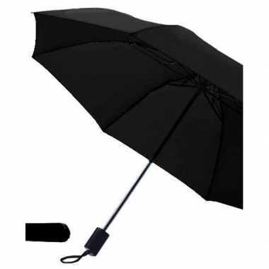 Opvouwbare paraplu zwart 85 cm