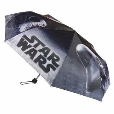 Opvouwbare star wars paraplu zwart