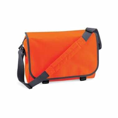 Oranje aktetassen 11 liter