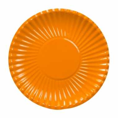 Oranje barbecue borden 23 cm