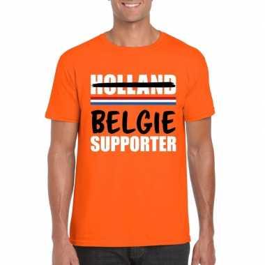 Oranje belgie shirt voor teleurgestelde holland supporters heren