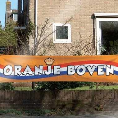 Oranje boven banier 180x40cm