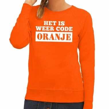 Oranje code oranje sweater dames