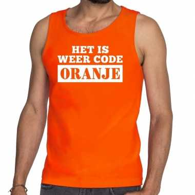 Oranje code oranje tanktop / mouwloos shirt heren