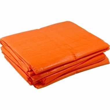 Oranje dekzeilen 3 x 4 meter