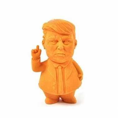 Oranje donald trump gummetje 9 cm