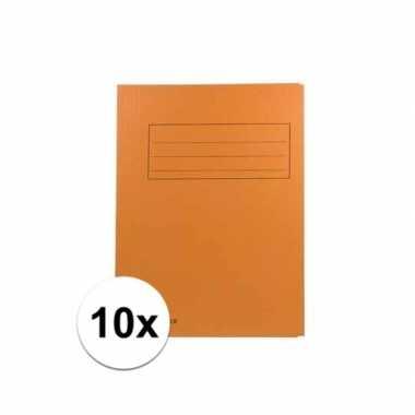 Oranje dossiermappen voor a4 10x
