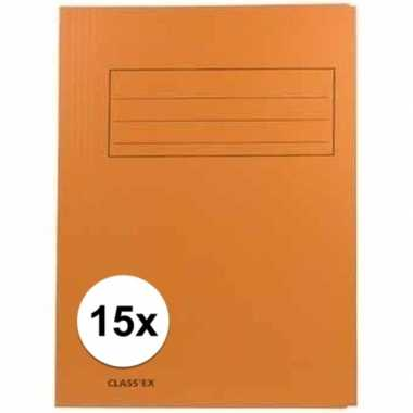 Oranje dossiermappen voor a4 15x