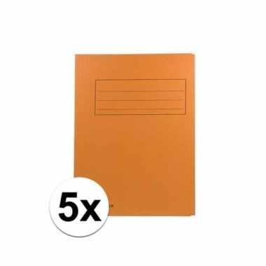 Oranje dossiermappen voor a4 5x