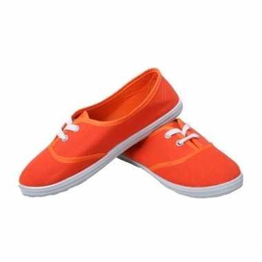 Oranje fan ek/wk schoenen/sneakers 36-41 voor meisjes/dames