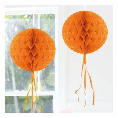 Oranje feestversiering decoratie bol 30