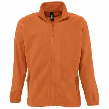 Oranje fleece vesten van jerzees