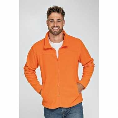 Oranje fleecevest voor volwassenen