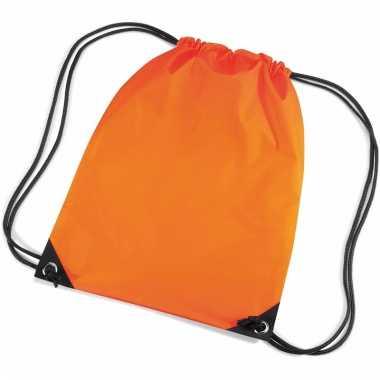 Oranje gymtas met koord