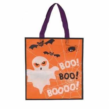 Oranje halloween tas voor kinderen 3x