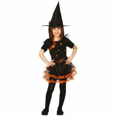 Oranje heksenkleding kinderen