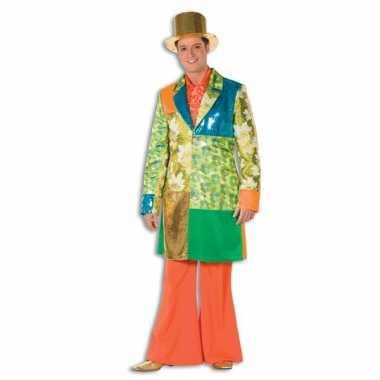 Oranje hippie broek voor heren