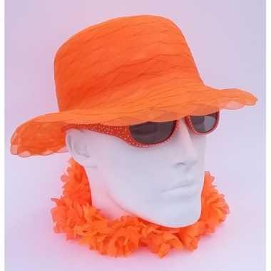 Oranje hoedjes organza