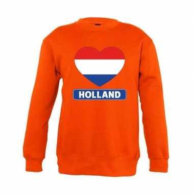 Oranje holland hart vlag sweater kinderen
