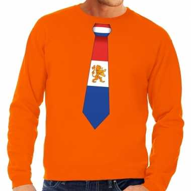 Oranje holland stropdas sweater heren