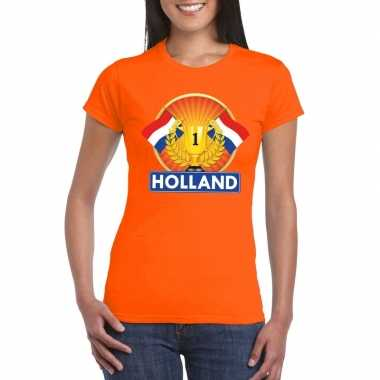 Oranje holland supporter kampioen shirt dames