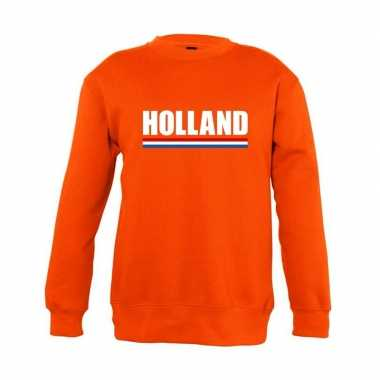 Oranje holland supporter sweater kinderen