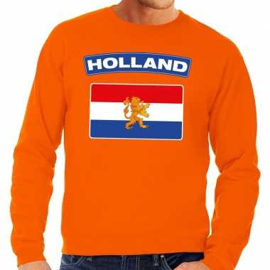 Oranje holland vlag sweater volwassenen