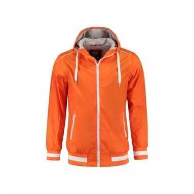 Oranje hooded jassen voor mannen