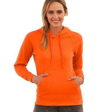 Oranje hooded sweater voor vrouwen
